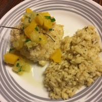 Macadamia Encrusted Halibut with Tropical Salsa